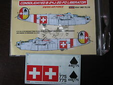 1/72 KORA DECAL LIBERATOR B24 H 775 SWISS AIR FORCE DECALCOMANIE