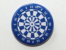 "DARTBOARD BLUE - Pinback Button Badge 1.5"" Darts"