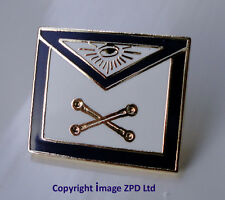 Freemason Masonic Apron Enamel Lapel Pin Badge Marshal