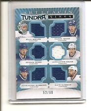 2015-16 UD Artifacts Tundra Sixes Vancouver Canucks 52/99 Miller Sedin Sedin ++