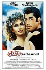 classic movie poster GREASE olivia NEWTON JOHN john TRAVOLTA 50's 24X36