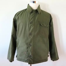 VINTAGE ORIGINAL A-2 A2 DECK JACKET US NAVY USN USS CV62 INDEPENDENCE 1978 LARGE