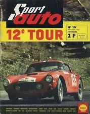 SPORT AUTO n°20 09/1963 TOUR DE FRANCE AUTO AVEC ENCART