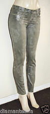 GUESS Women's Brittney Skinny Ankle Coated Camo Floral Wash sz 26
