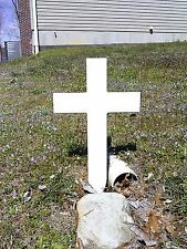 "MEMORIAL CROSS Decoration / Garden / Grave / Pet Grave / New 22.5""H / PVC"