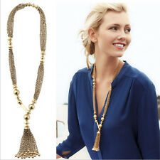 New Women's Pendant Gold Plated Crystal Collar Statement Necklace Chain Jewelry