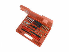 42PC RE THREAD TOOL KIT SET UNC UNF & METRIC SIZES TAPS DIES & FILES