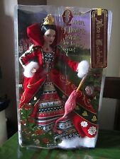 UK SELLER RARE BARBIE Queen of Hearts Doll SILVER LABEL NRFB Alice in Wonderland