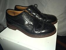 J CREW LUDLOW BLACK WING TIPS BENCH MADE  ITALIAN UPPER SIZE 9,5 D VGC $298