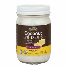 NOW Food Organic Coconut Infusions 12oz Fresh, Free Shipping, Made in USA