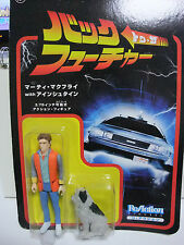 Back to the Future Marty Mcfly & Einstein Japan Le ReAction Figure BTTF FUNKO