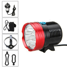 Super Bright 25000Lm 10xCREE R8 LED Head Front Bicycle Lamp Bike Light 4x26650