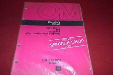 John Deere 165 Backhoe 3 Point Hitch Operator's Manual DCPA4