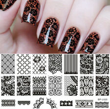 BORN PRETTY Lace Flower Pattern Nail Art Stamping Template Image Plate BP-L020