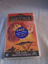 The Lion King 2 Simba's Pride - Walt Disney classic VHS