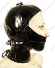 0861 Latex Rubber Gummi Masks Binder Hoods customized catsuit cool 0.7mm lace up
