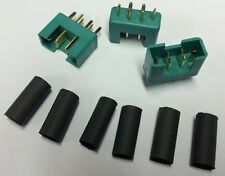 85213 Multiplex accesorios RC Bañado En Oro M6 Alto Corriente Conectores 3Pcs