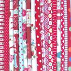 RED - BIG BUNDLE NEW 100% COTTON FLORAL FABRIC MATERIAL REMNANTS OFFCUTS