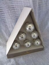 Casa Deco SILVER Crackled Mercury Glass Drawer Pulls Round Knobs Set Of 6 New