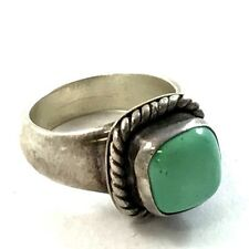 Vintage Native American Sterling Silver Turquoise Signed Ring