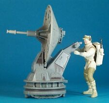 STAR WARS POTF DELUXE LOOSE RARE HOTH REBEL SOLDIER & ANTI VEHICLE LASER CANNON.