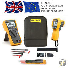 Fluke 114 True RMS Multimeter + 62 MAX Plus + TPAK3 + 1AC + C115 Case