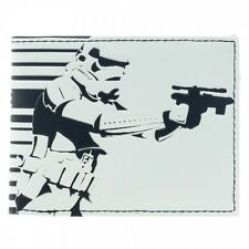 STAR WARS STORM TROOPER SHOOTING GALACTIC EMPIRE WHITE WALLET *BRAND NEW*