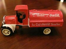 Coca-Cola Die-Cast Metal Bank With Coke Logo First Dispensing Tank Car Bank, NIB