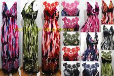 2262Sexy Women Summer Beach Long Maxi BOHO Evening Hawaiian Party Dress Sundress