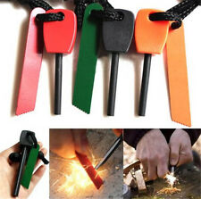1pc Magnesium Flint Stone Fire Starter Lighter Emergency Survival Camping Red