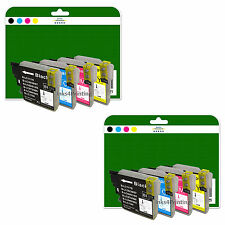 8 Ink Cartridges for Brother DCP-J125 J140W J315W J515W non-OEM LC985