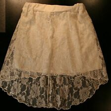 Rue 21 Mini Skirt With White Floral Lace Hi-Low Overlay Size S Juniors