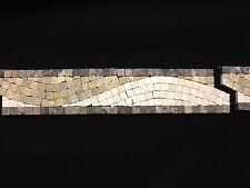 Roman WAVE MOSAICO piastrella su bordo 30,5 cm x 6 cm CUCINA BAGNO DOCCIA, SABBIA / Beige