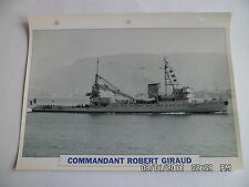 CARTE FICHE NAVIRES DE GUERRE COMMANDANT ROBERT GIRAUD 1941 DEPANNEUR D'AVIATION