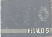 Renault 5 1980-81 Original Handbook In English inc. TS Pub. No. 77 01 446 637