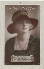 POSTCARD  ACTRESSES  Gladys Cooper  New Year