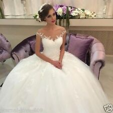 2017 New Lace White/ivory Wedding Dress Bridal Gown Custom Size 6-8-10-12-14-16