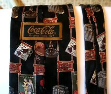 Coca Cola Men's Necktie Tie Coke Black Bottle Toaster Ad 5 cents STOREWIDE SALE