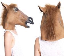 Neuf Masque Tête de Cheval Marron en Latex Pour Fête Costumée Cosplay Toussaint