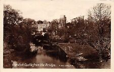 WARWICK CASTLE FROM THE BRIDGE UK H BESON & SON PHOTO POSTCARD POSTMARK 1920