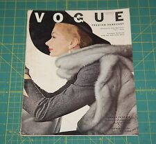 August Vogue 1951 Rare Vintage Vanity Fair Fashion Design Collection Magazine