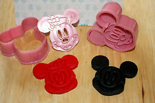 Mickey & Minnie Mouse Plunger Cutters, Sugarcraft, Cake Decorating