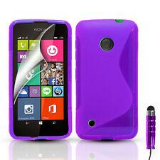 S-Line Silicone Gel Case Cover For Nokia Lumia 530 & FREE Screen Protector