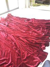 Stunning Quality Red Velvet Curtain, MASSIVE WIDTH EX CON  270cm Drop X 10.45M