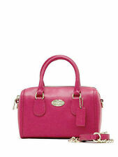 NWT Coach Crossgrain Leather Baby Bennett Satchel Handbag in Cranberry F 34641