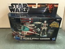 Hasbro Star Wars 2011 Republic Assault  Submarine With Scuba Clone Trooper