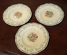 Crown Ducal Made in England Florentine Ferncroft 3 x Dessert/Pie Plate 6 7/8""