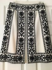 Chic Embroidered Etcetera ETC Black/Cream Sequin Wool Skirt Fabulous