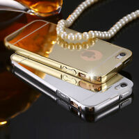 For Apple iPhone 4 4s Luxury Aluminum Thin Mirror Metal Hard Back Case Cover