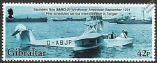 SAUNDERS ROE SARO A.21 WINDHOVER Flying Boat Aircraft Stamp (2003 Gibraltar)
